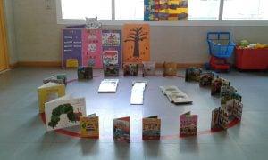 escuela infantil bilingüe en Valencia - circulo con libros