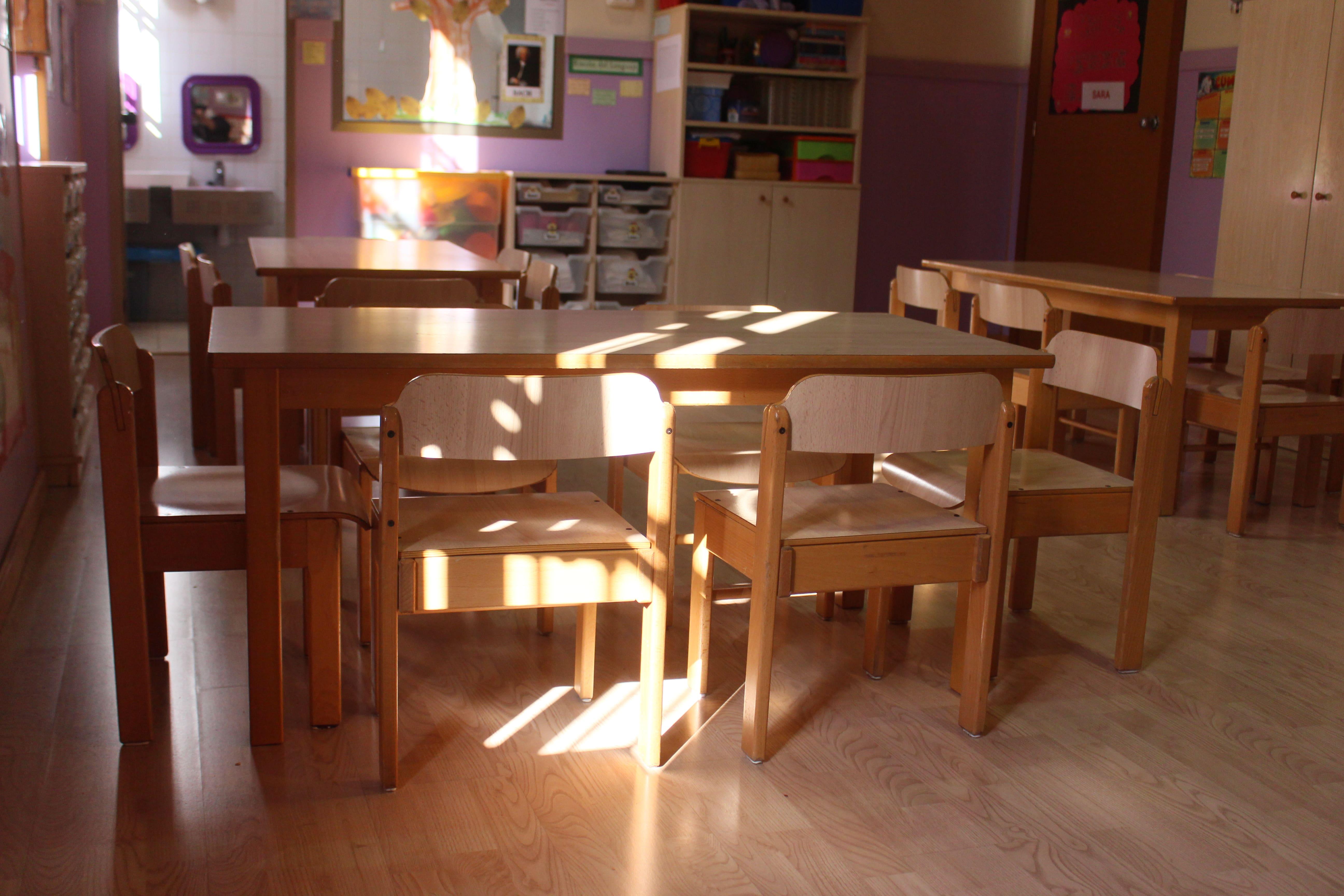 escuela infantil bilingüe en Valencia - clase con sol