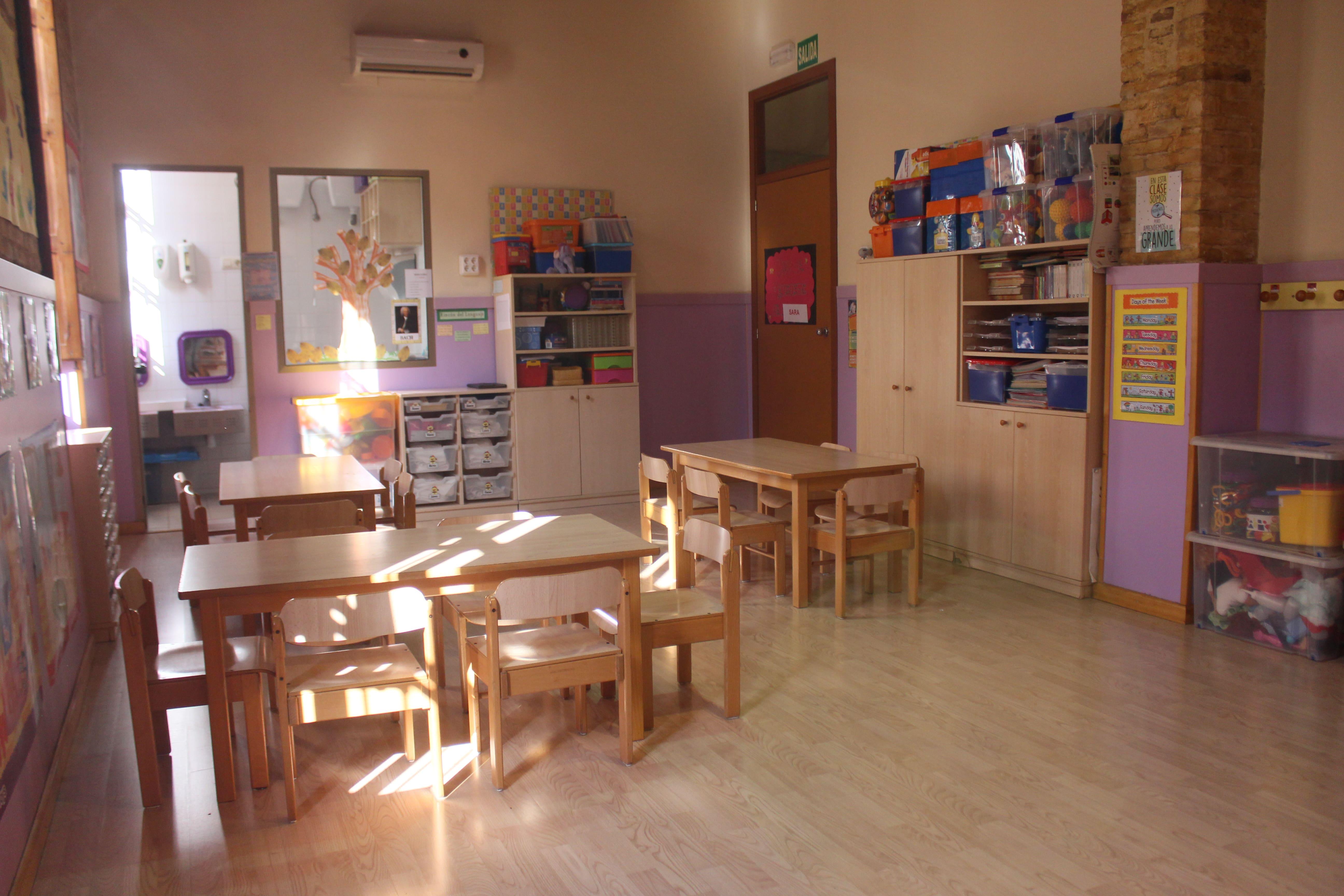 escuela infantil bilingüe en Valencia - clase desde otra perspectiva