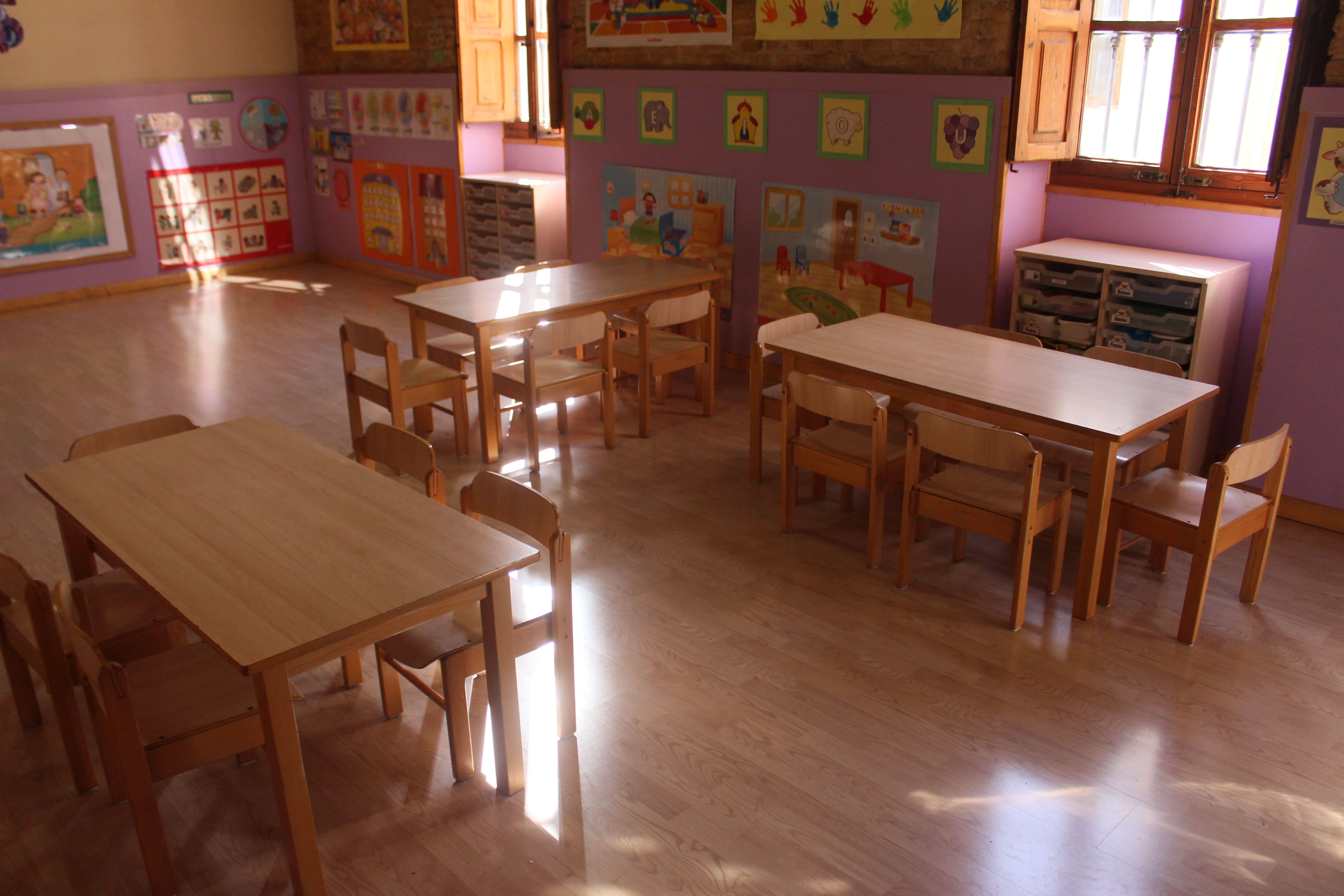 escuela infantil bilingüe en Valencia - clase iluminada