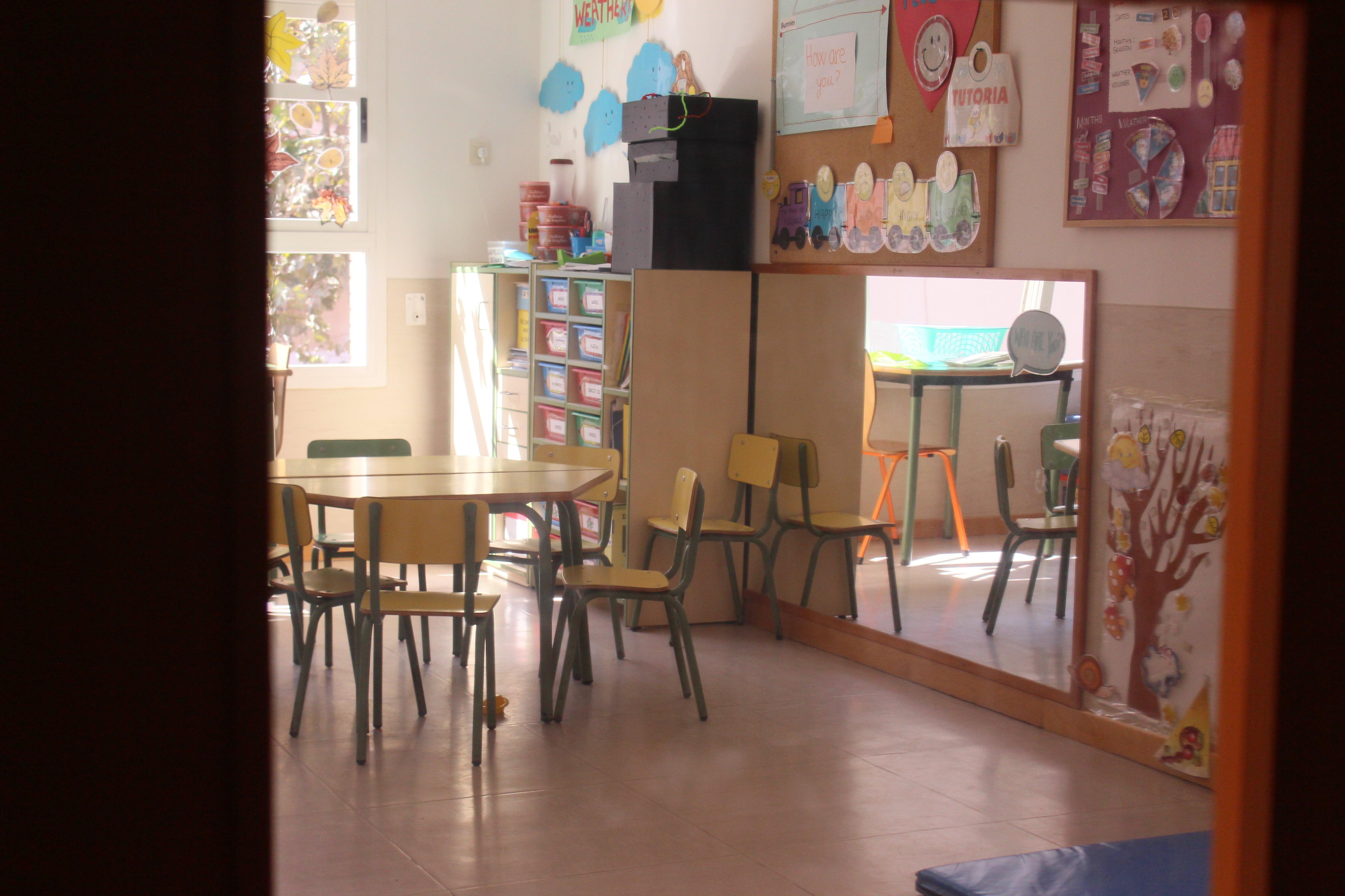 escuela infantil bilingüe en Valencia - clase vacía