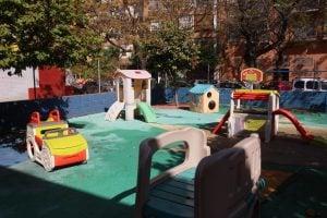 escuela infantil bilingüe en Valencia - patio iluminado