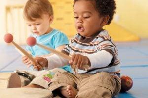 Iniciación musical para bebés en Valencia - tambor