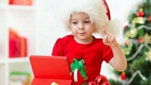 escuela de navidad para niños en Valencia - tablet