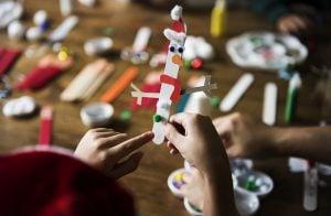 escuela de navidad en Valencia - muñeco de nieve