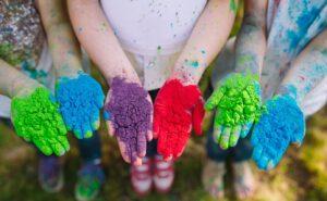 campus de verano para niños en Valencia - colores