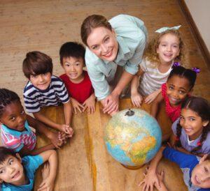 escuela infantil en inglés - profesora
